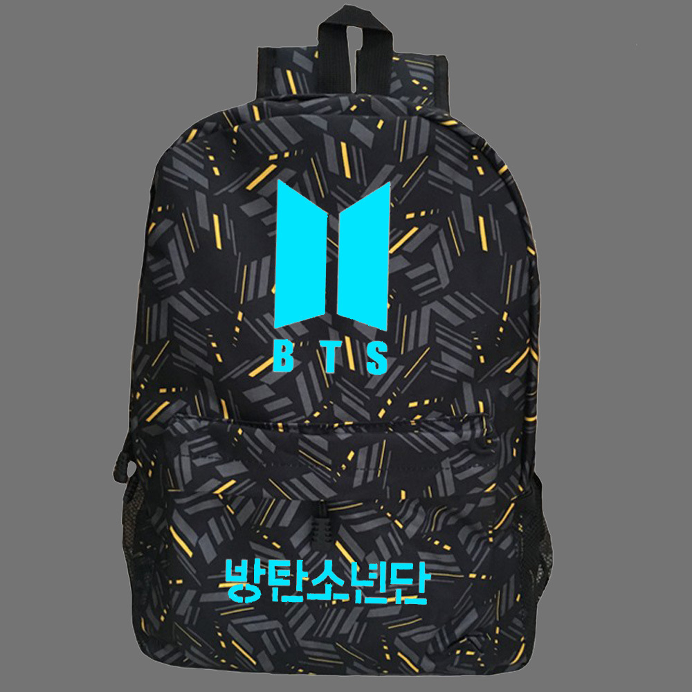 BTS Bulletproof Juvenile Jimin Min Yun Its BTS New Logo Night Light School Bag STUDENT'S Backpack Customizable