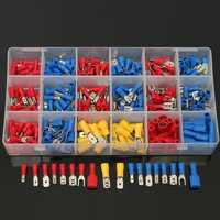 280/300/330PCS Insulated Cable Connector Electrical Wire Assorted Crimp Spade Butt Ring Fork Set Ring Lugs Rolled Terminals Kit