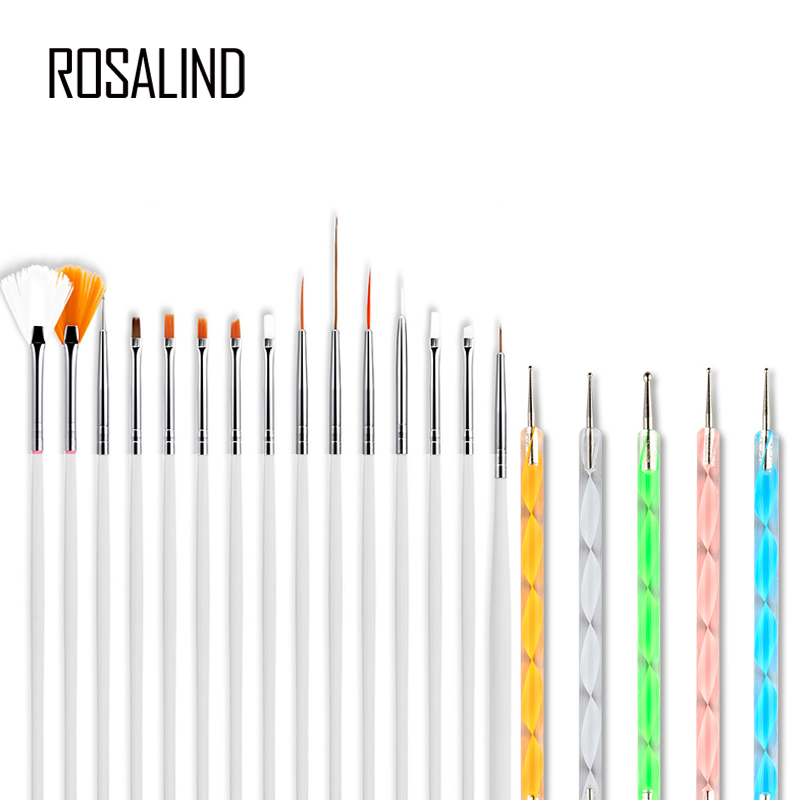 ROSALIND Nails Accessoires For Gel Nail Polish Art Design Manicure Tool Acrylic Brushes Manicure Nail Bruhes Pen Sets