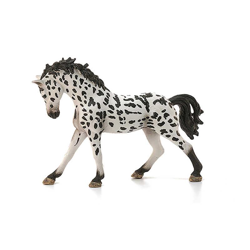 Original genuíno selvagem fazenda animal manchado appaloosa garanhão cavalo figura modelo crianças brinquedo collectible
