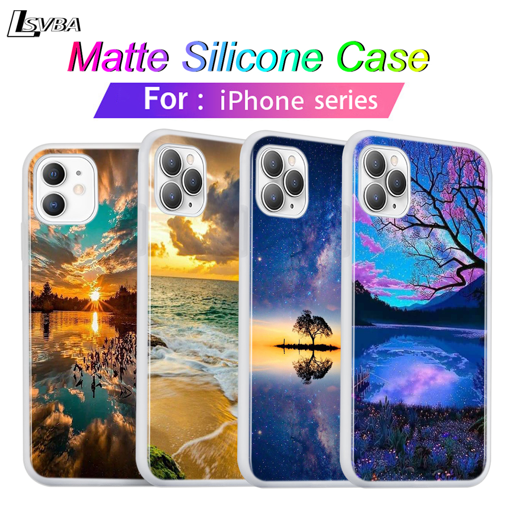 <font><b>Silicone</b></font> Cover For <font><b>iPhone</b></font> 11 Pro Max Soft Shell Beautiful <font><b>natural</b></font> scenery for <font><b>iPhone</b></font> XS Max XR X 8 7 <font><b>6S</b></font> 6 Plus 5S Phone <font><b>Case</b></font> image