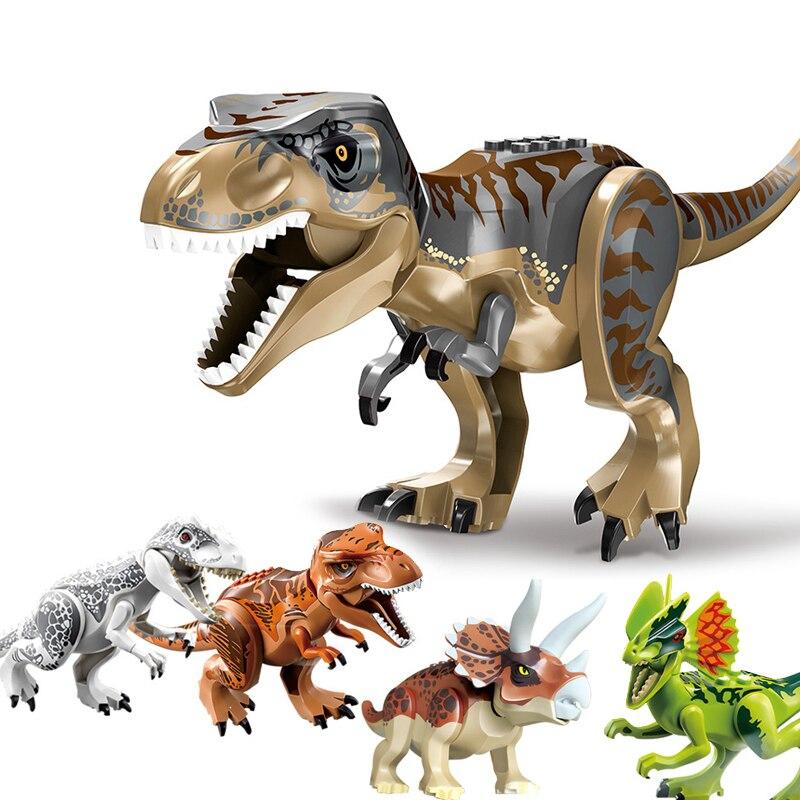 NEW 2020 Jurassic Building Blocks Dinosaur Tyrannosaurus Pterosaur Figures Bricks compatible Tyrannosaurus Assemble Kids Toys 1