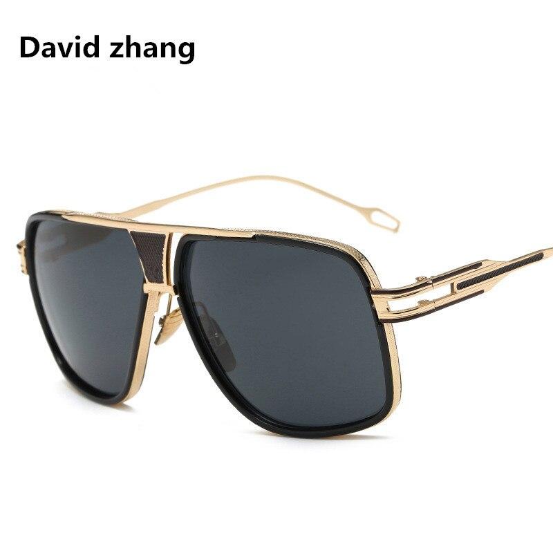 1187 new sunglasses, European and American trendy metal fashion retro square men women