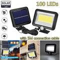 Светодиодный уличный светильник на солнечной батарее  100 светодиодов  30 Вт
