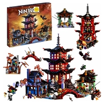 737 stücke Diy Ninja Tempel von Airjitzu spinjitzu Bausteine kompatibel ninjagoed Lepined sets Spielzeug für Kinder Ziegel-in Sperren aus Spielzeug und Hobbys bei