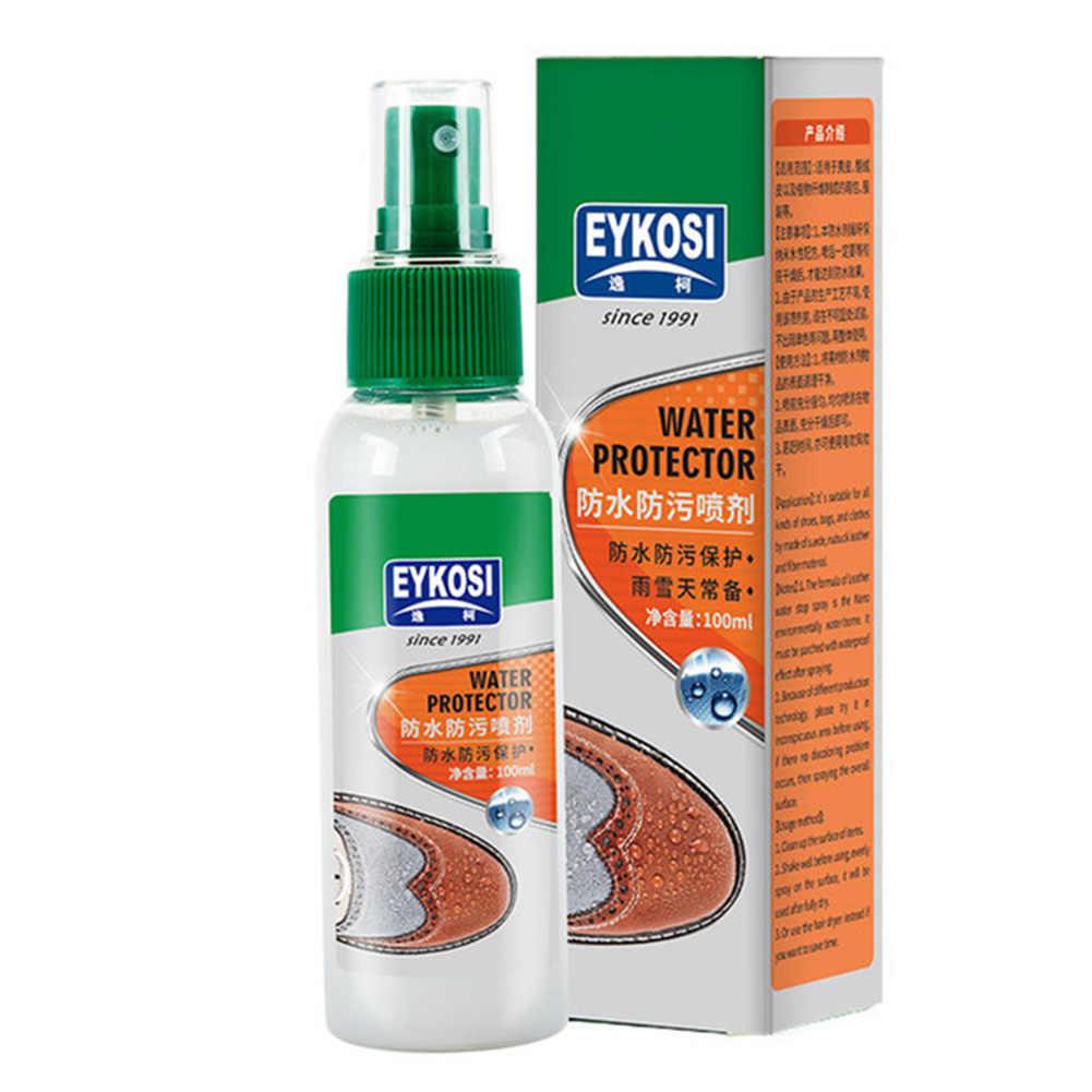 100 Ml Macchia Repellente per Le Scarpe di Stoffa Liquido Spruzzo Impermeabile Inodore Rivestimento Idrofobo di Protezione Invisibile Non Tossico