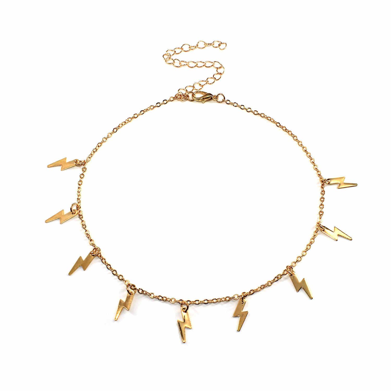JCYMONG הגעה חדשה תאורת תליון שרשרת לנשים זהב כסף צבע קישור עצם הבריח שרשרת 2020 אופנה קצר קולר שרשרת