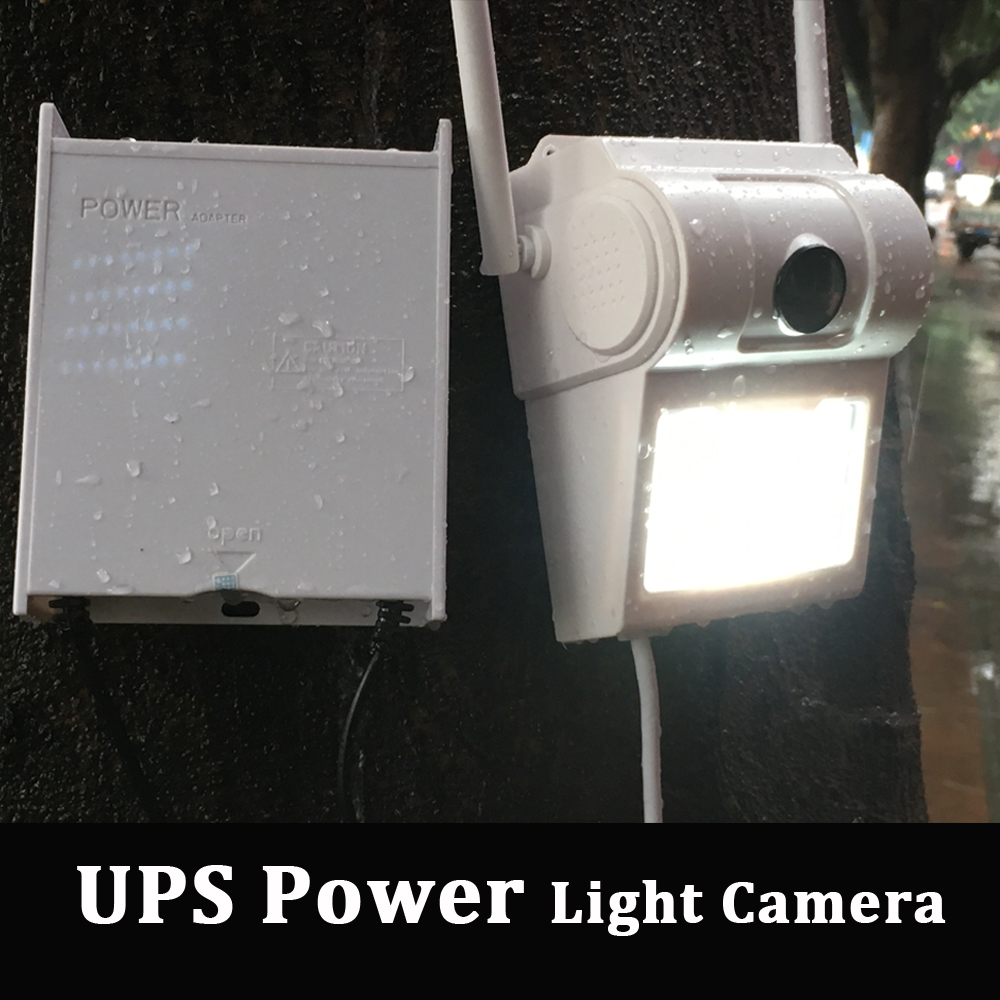 UPS Power Outdoor 1080P WIFI IP Camera Wall Lamp Camera 2MP Wireless CCTV Home Security Camera Two Way Audio ICSEE
