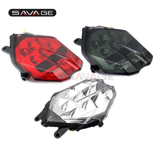 LED kuyruk fren lambası Triumph hız üçlü 675/R Daytona 13 16, sokak üçlü S 765 17 18 motosiklet entegre flaşör lambası