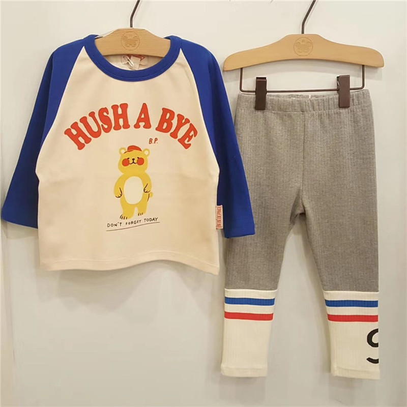 Image 5 - 2019 Bebe de Pi** Korean Baby Boys Girls Fall Clothes Toddler Long Sleeve TShirt Lovely Cartoon Letter Print Tops Baby Tshirt-in T-Shirts from Mother & Kids