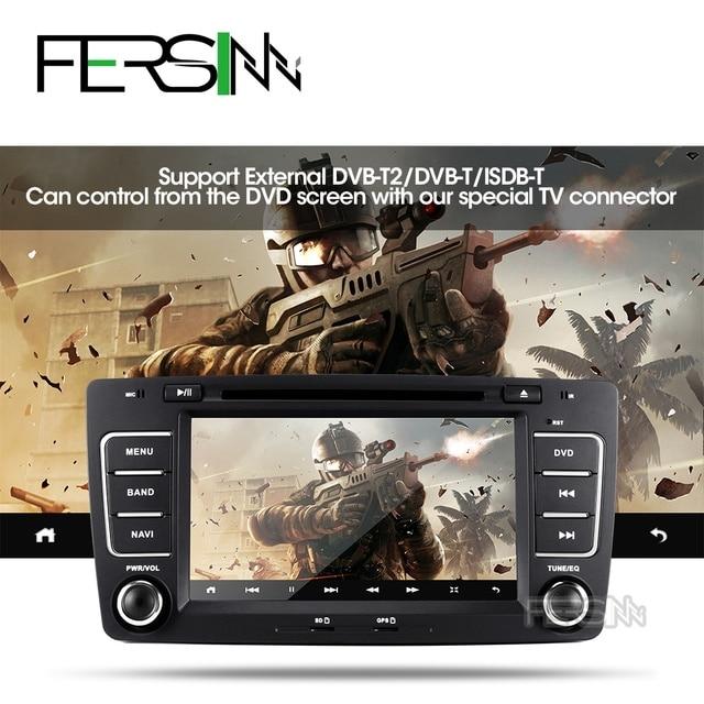 Fersinny-dvd de voiture android 9.0 T8 | Pour Skoda Octavia 2009 2010 2011 2012 2013, navigation gps