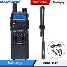 Baofeng UV 5R 3800 워키 토키 5 와트 듀얼 밴드 UHF 400 520MHz VHF 136 174MHz 양방향 라디오 uv82 uv 82 UV5R 휴대용 CB 라디오