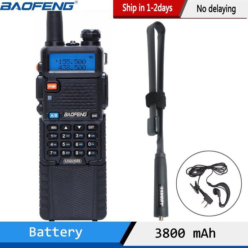 De Baofeng UV 5R 3800 Walkie Talkie 5 vatios de doble banda UHF  400 520MHz VHF 136 174MHz Radio de dos vías uv82 uv 82 UV5R portátil CB  RadioTransceptor   -