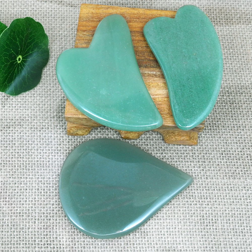 Gua Sha Scraping MassageTool Body Massager scratching Guasha stone SPA jade Scraper for Face Back Health Care Anti wrinkle in Massage Relaxation from Beauty Health