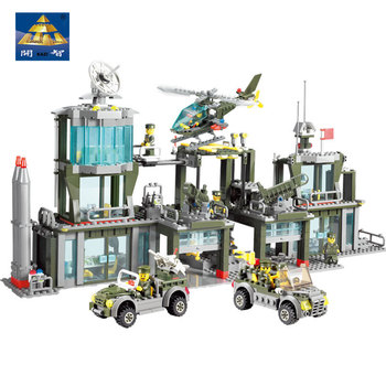 2017 new kazi 4pcs building blocks wolf tooth field team militray army weapons compatible with legoe solider bricks toys Original KAZI field troops assembled building blocks military army general command police station 84011 children's toys