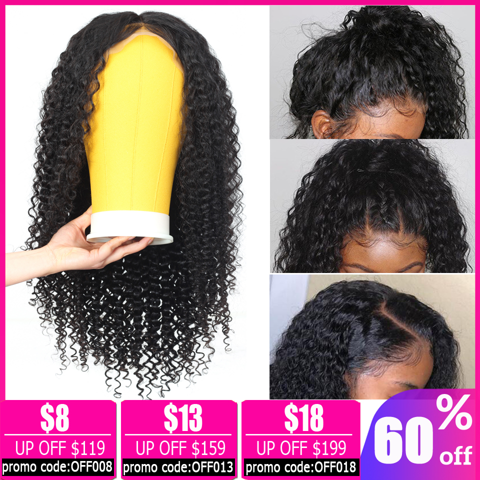 Kinky Curly Human Hair Wig Brazilian Long Wig 13x4 Short Lace Front Human Hair Wigs For Black Women Bob Lace Front Wigs Non-remy