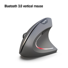 HXSJ nowa pionowa mysz Bluetooth ergonomia 800/1600/2400DPI zapobieganie mysz ręczna gra mysz biurowa Pc akcesoria do notebooków