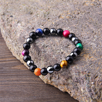 Natural Black Obsidian Hematite Tiger Eye Beads Bracelets Men for Magnetic Health Protection Women Jewelry Pulsera Hombre 5