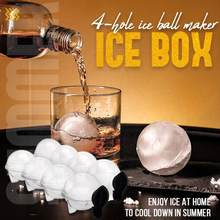 4-hole ice ball maker ice box Ice Round Ball Ice Cube Food Mould Makers Flexible Whiskey Cocktail DIY Round Ice Ball Ice Grid P