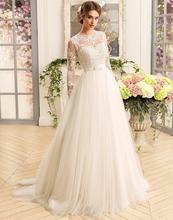 Роскошные наряды с длинным рукавом свадебные платья 2021 o образным
