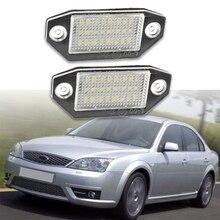 포드 Mondeo MK3 3 2000 2001 2002 2003 2004 2005   2007 자동차 Led 번호 번호판 라이트 키트 Canbus 오류 무료 자동차 스타일링