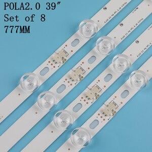 """Image 3 - 1set=8pcs LED Backlight 9Lamp For LG 39"""" TV LG 39LN5100 INN0TEK POLA2.0 39 39LN5300 39LA620S POLA 2.0 39LN5400 HC390DUN VCFP1"""