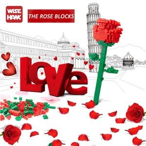Image 3 - Saint valentin présent Sexy rose mini blocs de construction plein damour cour cadeau danniversaire épissure brique assemblage jouet cristal