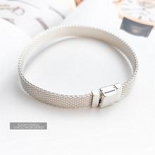 2020 Fashion Jewelry 100% 925 Silver Reflexions bracelet for Women bracelets bangle Jewelries Pulseira Gift,1pz