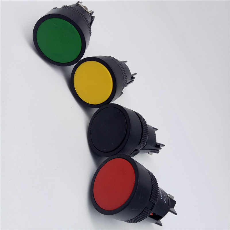 1Pcs 22mm momentary Push ปุ่มสวิทช์สีแดงสีเขียวสีฟ้าสีเหลืองสีดำสีขาวปกติเปิด/ปกติปิด XB2-EA142 XB2-EA131