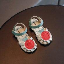 Summer Sandals for Girls Watermelon Lemon Fruit Shape Closed Toe Toddler Infant