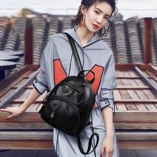 Multifunction Waterproof Backpack For Girls Women Travel Bag Famous Brand Black 2019