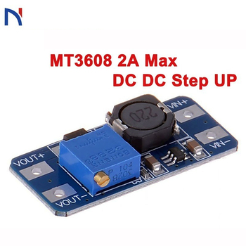 MT3608 2a max dc dc step up DC Voltage Regulator Step Up Boost Converter Power Supply Module Board MAX output 28V 2A for arduino 1 2 pcs dc dc step up converter boost 2a power supply module in 2v 24v to out 5v 28v adjustable regulator board dropship