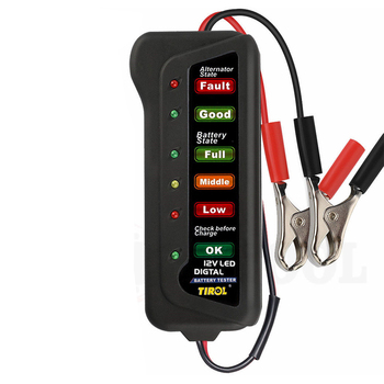 12V Car Motorcycle LED Digital Battery Load Alternator Tester Display Indicate Analyzer Car Repair Charger Tool Accessories image