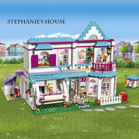 622pcs Genuine Good Friends Girls Series 01014 The Stephanie's House Set Building Blocks Bricks Legoinglys Friends 41314