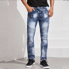 2019 New Autumn And Winter Trend Jeans Cotton Jeans Men's High Quality Brand-name Denim Trousers Soft Men's Slim Trousers