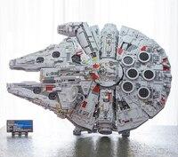 Instock 81085 05132 millennium spaceship falcon star 8445 peças compatíveis 75192 colecionadores finais blocos de construção tijolos brinquedos