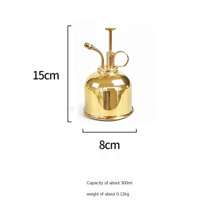 Mini Copper Plant Flower Watering Can Pot Spray Bottle Garden Mister Sprayer Garden Supplies WY52601