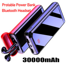 Bluetooth Headset Power Bank 30000mAh Powerbank External Bat