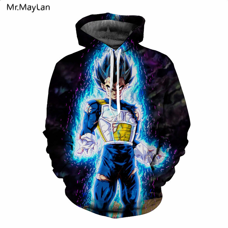 Mr.MayLan Classic Anime <font><b>Dragon</b></font> <font><b>Ball</b></font> <font><b>Z</b></font> Hoodies 3D Print Pullovers Sportswear Men Women Hooded Sweatshirts <font><b>Goku</b></font> hoodie <font><b>Jacket</b></font> 5XL image