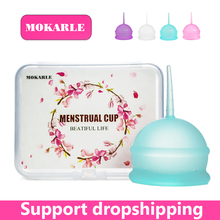 High quality silicone menstrual cup feminine hygiene lady prevent side leakage period collector vigin care