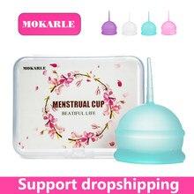 Alta qualidade silicone copo menstrual feminino higiene senhora copo evitar vazamento lateral período copo coletor menstrual vigin cuidados