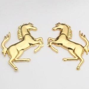 """Image 5 - 3D логотип из цинкового сплава металлическая эмблема """"лошадь"""" наклейка значок эмблема нЗначок феррари  аклейка для ford Ferrari окна автомобиля бампер тела стикер автомобиля Стайлинг"""