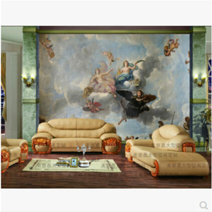 Image 3 - Custom Mammoth Muurschildering Sofa Dak Achtergrond 3D Wallpapers Voor Woonkamer Slaapkamer Plafond Hoek Olieverf Fotowand Papier 3D