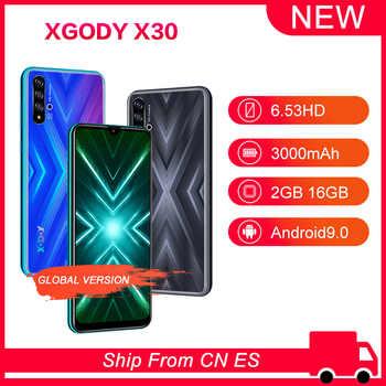 "XGODY 6.53\"" X30 Phone Smartphone Android 9.0 Waterdrop 2GB 16GB MT6580 Quad Core 3000mAh Dual SIM 5MP GPS WiFi 3G Mobile Phone - DISCOUNT ITEM  30 OFF Cellphones & Telecommunications"
