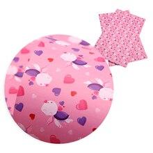20*34 см искусственная кожа ткань для бантов Сердце Любовь День Святого Валентина кожаные листы ткани для лоскутных поделок ручной работы, 1Yc8580