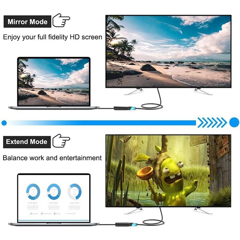 Image 4 - Мини порт дисплея к HDMI 1080P 4k, кабельный проектор, ТВ проектор DP, порт дисплея 1,4 для apple Macbook air pro Mac, мини разъемКабели HDMI    АлиЭкспресс