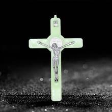 Христос Иисус крест светится в темноте кулон распятие украшения
