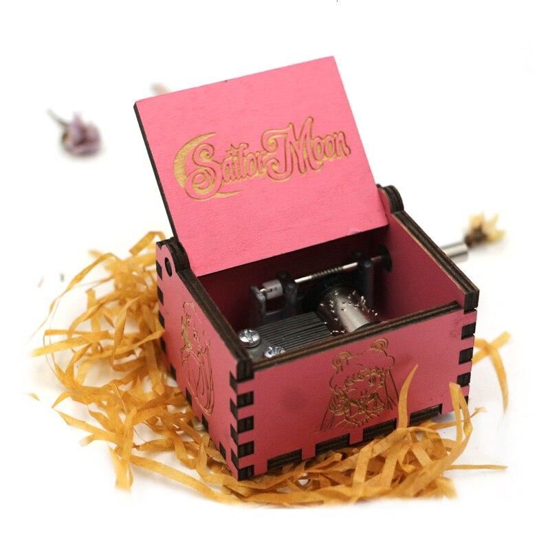 Старинная Музыкальная шкатулка с ручной резьбой по дереву в качестве подарка на день рождения и Рождество для вас и ваших друзей - Цвет: Angels love beauty