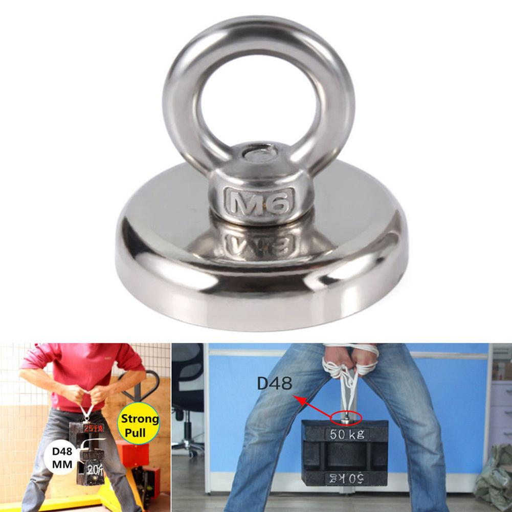 Practical Powerful Ring Hook Recovery Magnet Hook Strong Sea Fishing Diving Treasure Hunting Flying Ring Salvage Magnet