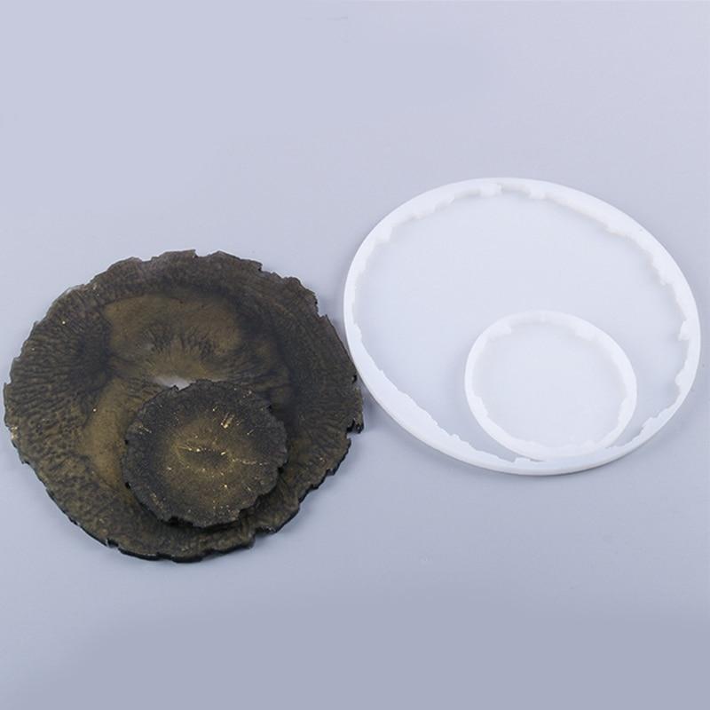С украшением в виде кристаллов эпоксидная смола, форма Coaster силиконовая форма «сделай сам», ремесла, ювелирные изделия, циновка чашки инстру...